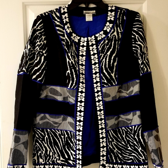 Mirror Image Jackets & Blazers - MIRROR IMAGE Womens Jacket Animal Print Sz Medium